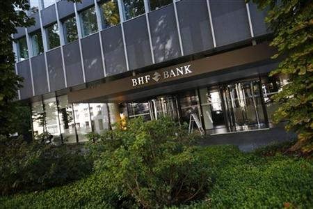 The headquarters of BHF-Bank is pictured in Frankfurt September 20, 2012. REUTERS/Kai Pfaffenbach
