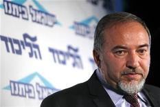 Avigdor Lieberman speaks at a conference for young members of his Yisrael Beiteinu party in Tel Aviv December 13, 2012. REUTERS/Amir Cohen