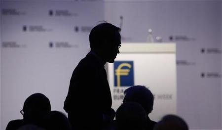 President of German Bundesbank Jens Weidmann makes his way to the podium during the Frankfurt Euro Finance Week in Frankfurt November 19, 2012. REUTERS/Lisi Niesner (GERMANY - Tags: BUSINESS)