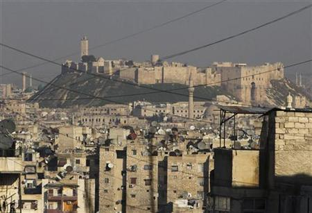 A general view shows Aleppo's historical citadel controlled by forces loyal to Syria's President Bashar al-Assad December 30, 2012. REUTERS/Muzaffar Salman