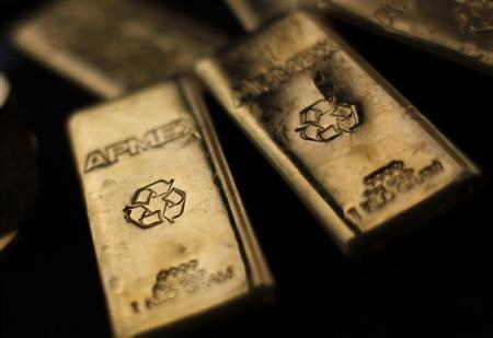 Gold Bullion from the American Precious Metals Exchange (APMEX) is seen in New York, September 15, 2011. REUTERS/Mike Segar/Files