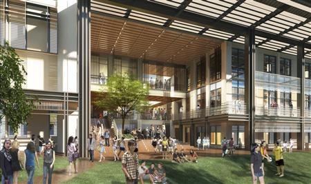 Handout image shows an artist's rendition of the learning commons at the Yale NUS College in Singapore. REUTERS/Yale NUS College/Handout