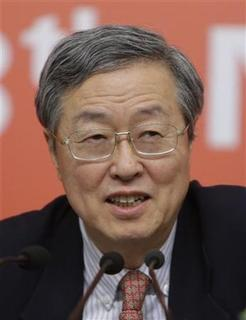 China's Central Bank Governor Zhou Xiaochuan answers a question during a news conference held on the sidelines of the18th National Congress of the Communist Party of China (CPC), in Beijing November 11, 2012. REUTERS/Jason Lee