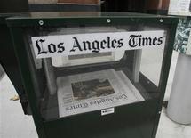 Le groupe de presse américain Tribune, propriétaire du Los Angeles Times et du Chicago Tribune, est sorti lundi de la protection du Chapitre 11 de la loi sur les faillites après quatre années de réorganisation. /Photo d'archives/REUTERS/Fred Prouser