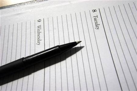 A generic picture of a diary. REUTERS/Catherine Benson