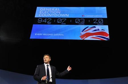 Co-Chairman of Britain's Conservative Party, Grant Shapps, delivers his conference opening speech at the Conservative Party conference in Birmingham, central England October 7, 2012. REUTERS/Toby Melville