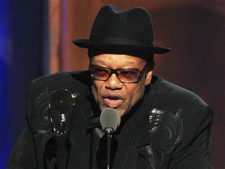 Bobby Womack speaks at the Rock and Roll Hall of Fame 2009 induction ceremonies in Cleveland, Ohio in this April 4, 2009 file photo. Over the weekend Womack told Britain's BBC Radio 6 music station he is beginning to show early symptoms of Alzheimer's disease, including trouble remembering names and song lyrics. REUTERS/Aaron Josefczyk/Files