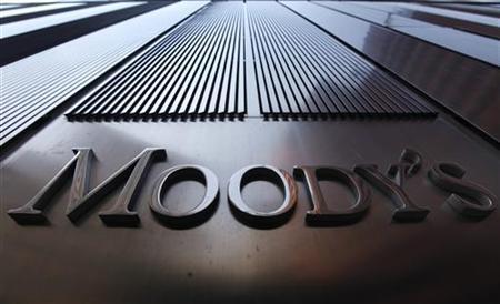 A Moody's sign on the 7 World Trade Center tower is photographed in New York August 2, 2011. REUTERS/Mike Segar/Files