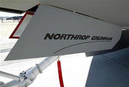 The landing gear on a mockup of a Northrop Grumman X-47B long-range, high endurance unmanned aircraft is seen during the Naval Aviation Centennial event at Naval Air Station North Island in San Diego, California February 11, 2011. REUTERS/Mike Blake
