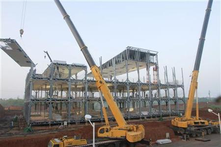 A view of the three-storey D3 cafeteria under construction by the Broad Group in Yueyang, Hunan province April 26, 2012. REUTERS/Broad Group/Handout/Files