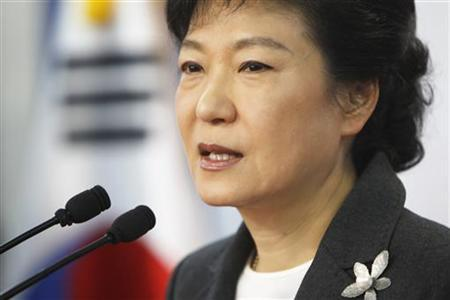 South Korea's conservative President-elect Park Geun-hye speaks during a news conference at the main office of ruling Saenuri Party in Seoul December 20, 2012. EUTERS/Woohae Cho