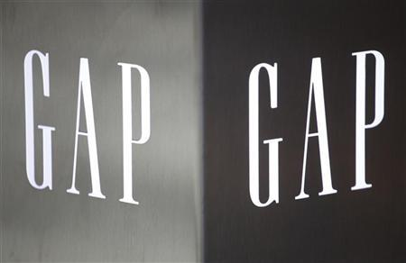 Gap logos are seen outside a Hong Kong's first Gap Store before its opening in the financial Central district November 25, 2011. REUTERS/Tyrone Siu