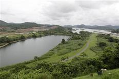 Una panoramica dell'area di costruzione sul Canale di Panama, 9 luglio 2009. REUTERS/Alberto Lowe