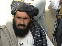 Pro-Taliban Pakistani tribal leader Maulvi Nazir Wazir, also known as Mullah Nazir, speaks during a news conference in Wana, the main town of the South Waziristan region bordering Afghanistan in this April 20, 2007 file photo. A U.S. drone strike killed a Nazir, his deputy and eight others in northwest Pakistan, intelligence sources and tribal leaders said January 3, 2013, deaths that could substantially alter the power balance in the Taliban heartland of Waziristan. REUTERS/Alamgir Bitani/Files