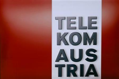 Austrian Telekom's company logo is pictured in front of their company headquarters in Vienna August 12, 2010. REUTERS/Herwig Prammer
