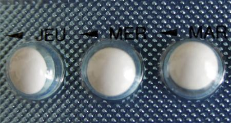 An illustration picture shows a blister-pack of birth control pills displayed at a private home in Nice January 3, 2013. REUTERS/Eric Gaillard