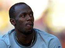Usain Bolt of Jamaica looks on ahead of the IAAF Diamond League athletics meeting, also known as Memorial Van Damme in Brussels September 7, 2012. REUTERS/Laurent Dubrule