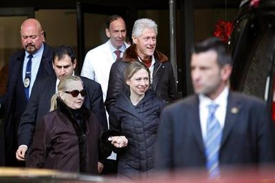 Clinton resting, plans to return to the office next...