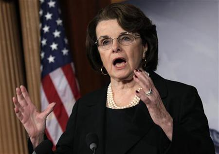 U.S. Senate Intelligence Committee Chairman Senator Dianne Feinstein (D-CA) speaks to the media on NRA/assault weapons on Capitol Hill in Washington, December 21, 2012. REUTERS/Yuri Gripas