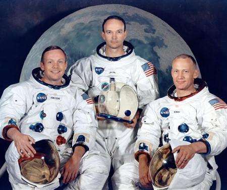 Apollo 11 crew's portrait session shows astronauts Neil A. Armstrong, Michael Collins and Edwin Aldrin in this July 1969 handout photo courtesy of NASA. REUTERS/NASA/Handout