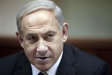 Israel's Prime Minister Benjamin Netanyahu attends the weekly cabinet meeting at his office in Jerusalem December 30, 2012. REUTERS/Abir Sultan/Pool