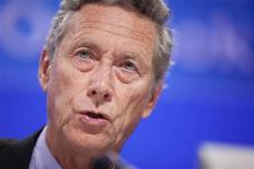 Economista-chefe do FMI, Olivier Blanchard, afirmou que cortes drásticos nos orçamentos dos países podem causar menos danos no cenário atual. 20/09/2011 REUTERS/Stephen Jaffe/IMF/Handout