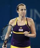 La Russe Anastasia Pavlyuchenkova a gagné vendredi le droit d'affronter en finale du tournoi de Brisbane Serena Williams en se débarrassant de l'Ukrainienne Lesia Tsurenko. /Photo prise le 4 janvier 2013/REUTERS/Daniel Munoz
