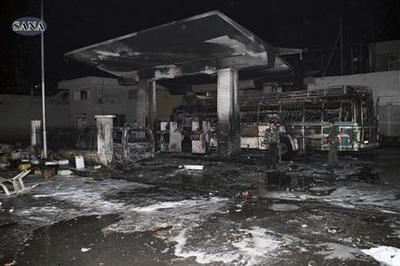 Syria blames ''terrorists'' for deadly petrol station...