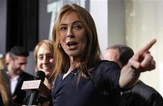 "Director and producer Kathryn Bigelow is interviewed at the premiere of ""Zero Dark Thirty"" at the Dolby theatre in Hollywood, California December 10, 2012. REUTERS/Mario Anzuoni"