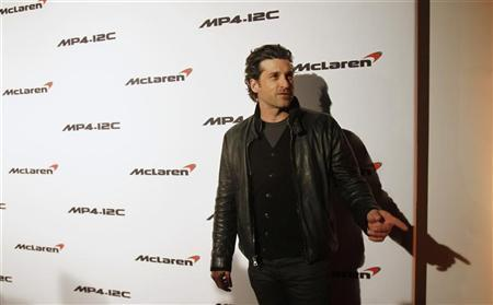 Actor Patrick Dempsey arrives for the opening of the first North American McLaren Automotive dealership in Beverly Hills, California January 10, 2012. REUTERS/Mario Anzuoni