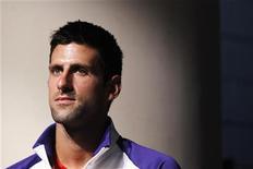 L'Open de Serbie, créé et organisé par la famille du numéro un mondial Novak Djokovic, disparaît du calendrier du tennis international après quatre ans d'existence. /Photo prise le 23 août 2012/REUTERS/Lucas Jackson