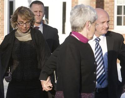 Former Representative Giffords visits town of school...