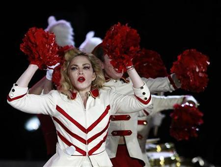 Singer Madonna performs at the Atanasio Girardot Stadium as part of her MDNA world tour in Medellin November 28, 2012./Files