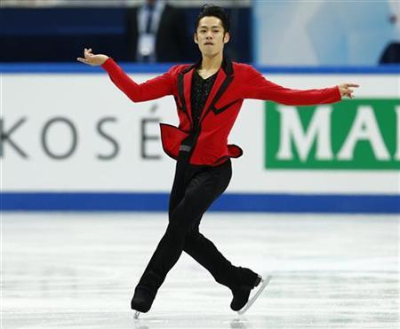 Daisuke Takahashi of Japan performs during the men's short programme at the ISU Grand Prix of Figure Skating Final in Sochi December 7, 2012. REUTERS/Grigory Dukor