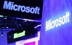 Más de 400 donantes, incluyendo a AT&T y Microsoft, han contribuido con dinero para ayudar a pagar las celebraciones que marcarán la inauguración del segundo mandato del presidente de Estados Unidos, Barack Obama, dijeron los organizadores. En la imagen, de archivo, el logo de Microsoft en Las Vegas. REUTERS/Rick Wilking/Files