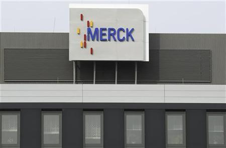 A branch of drugs and chemicals group Merck is pictured in central German city of Darmstadt March 7, 2012. REUTERS/Alex Domanski (GERMANY - Tags: BUSINESS HEALTH)