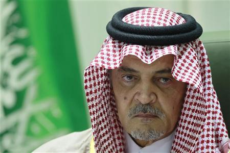 Saudi Arabian Foreign Minister Prince Saud Al-Faisal gestures during a news conference at his office in Riyadh December 4, 2012. REUTERS/Fahad Shadeed