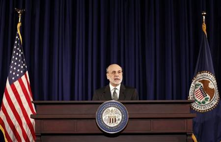 U.S. Chairman of the Federal Reserve Ben Bernanke speaks during a news conference in Washington December 12, 2012. REUTERS/Kevin Lamarque
