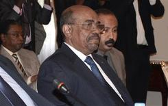 Sudan's President Omar Hassan al-Bashir attends a meeting with leaders from South Sudan at the National Palace in the Ethiopian capital Addis Ababa January 5, 2013. The leaders of Sudan and South Sudan met late on Friday to try to defuse hostility that has simmered since the south broke away in 2011 and restart cross-border oil flows to rescue their crumbling economies. REUTERS/Tiksa Negeri