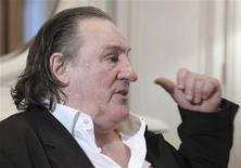 Gérard Depardieu, à qui Vladimir Poutine a accordé jeudi la nationalité russe, est arrivé samedi en Russie pour recevoir son nouveau passeport. /Photo prise le 5 janvier 2013/REUTERS/Mikhail Klimentyev/RIA Novosti/Pool NTS