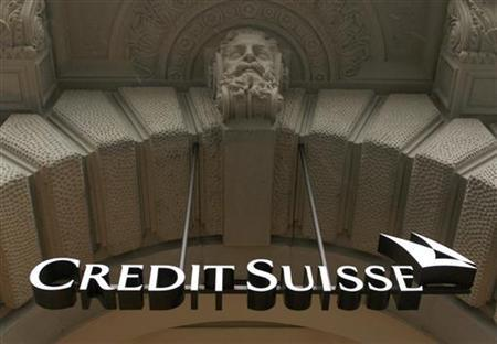 A logo of Swiss bank Credit Suisse is pictured at the company's headquarters in Zurich in this February 3, 2010 file photograph. REUTERS/Arnd Wiegmann/Files