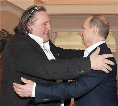 French actor Depardieu meets Putin, picks up Russian...