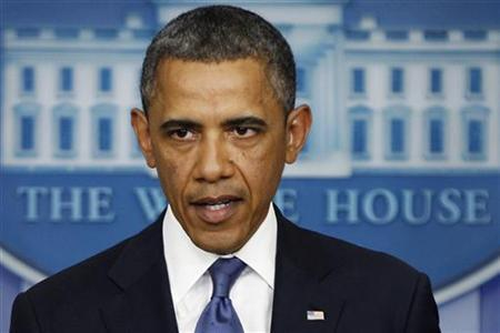 U.S. President Barack Obama makes a statement to reporters in Washington December 28, 2012. REUTERS/Jonathan Ernst/Files