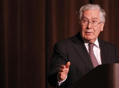 The Governor of the Bank of England Mervyn King speaks to the Economic Club of New York in New York, December 10, 2012. REUTERS/Brendan McDermid