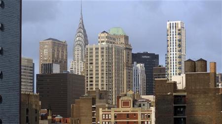 The skyline of lower Manhattan is seen in New York August 6, 2012. REUTERS/Charles Platiau