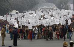 Donne indiane partecipano a una manifestazione contro gli stupri a New Delhi. REUTERS Pictures