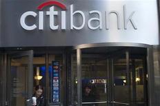 Foto de archivo de una sucursal de Citibank en Nueva York, oct 16 2012. El nuevo presidente ejecutivo de Citigroup Inc nombró al mexicano Manuel Medina Mora copresidente del banco estadounidense, como parte de una reorganización en la cúpula de la entidad. REUTERS/Keith Bedford