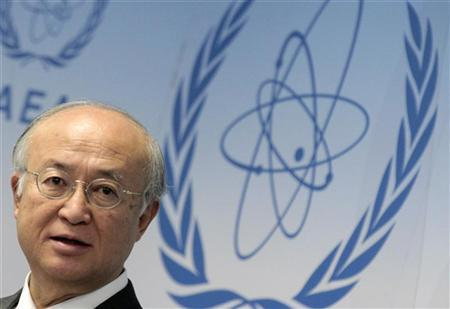 International Atomic Energy Agency (IAEA) Director General Yukiya Amano reacts as he attends a news conference during a board of governors meeting at the UN headquarters in Vienna November 29, 2012. REUTERS/Herwig Prammer