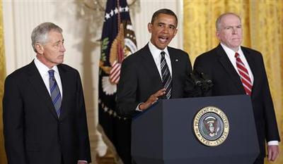 Obama picks Hagel for defense, Brennan for CIA