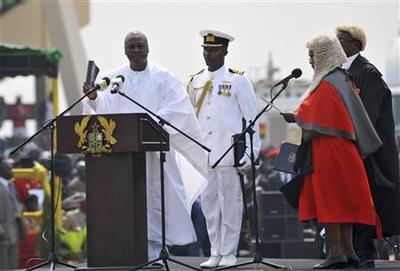 Ghana opposition boycotts president's inauguration